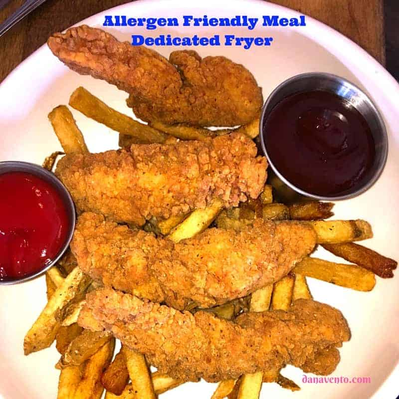 Allergen Friendly Chicken Fingers and Fries at Put In Bay Lunch