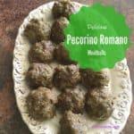 Pecorino Romano Meatballs