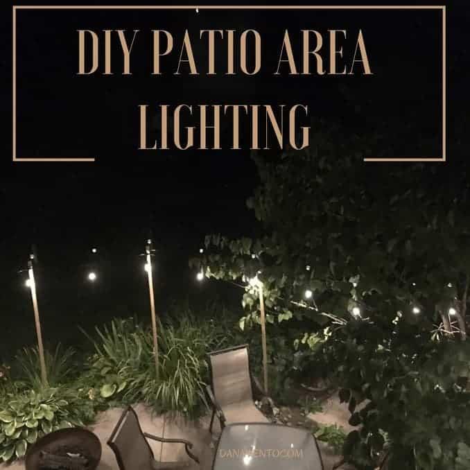 DIY Patio Area Lighting