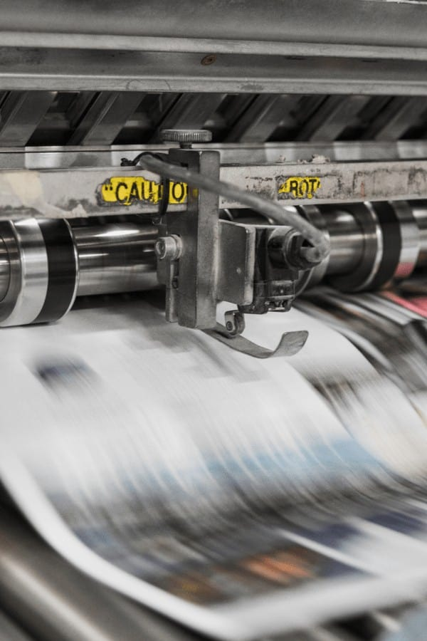 newspaper being printed use it for window cleaning your cars and windshield