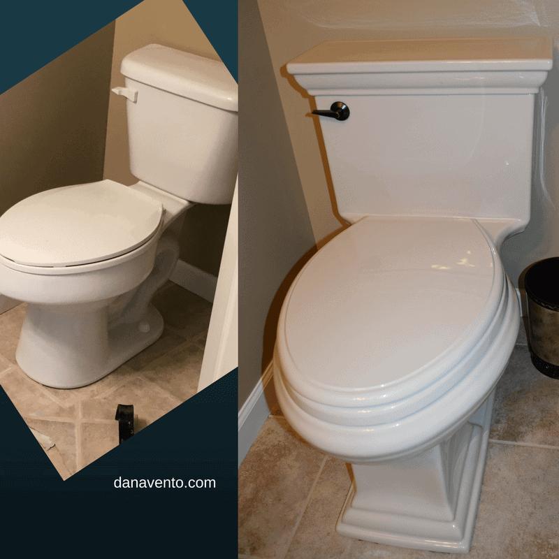 Memoirs Toilet: half bathroom renovation DIY