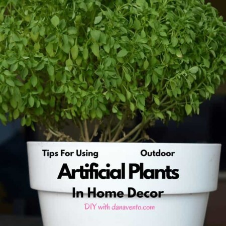 artificial plant on table