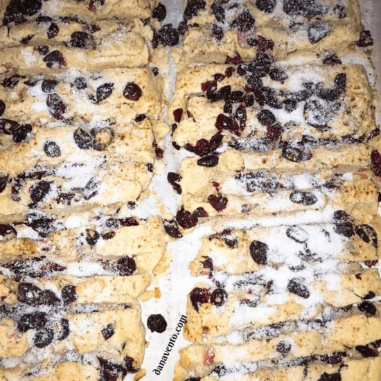 cranberry biscotti, recipe, recipes, easy to make, fast, delicious, crunchy, tangy, baking, yummy, in house, homemade, holidays, coffee, tea, dunk, eat, treat, sweet tooth, craving, cookies, how to, diy, diy baking, diy recipe, dana vento, food writer, food blogger, food recipe, dessert recipe, breakfast, snack, dessert, Ocean Spray® Craisins® Dried Cranberries p