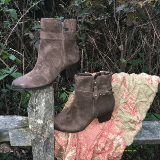 Earth Origin's Booties on a fence post