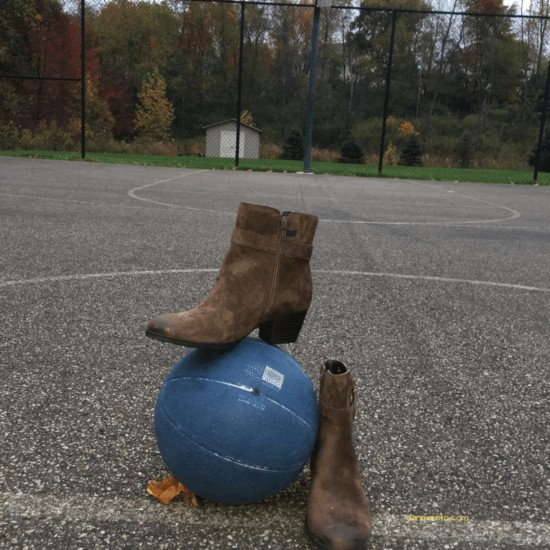 Earth Origins Bootie on a basketball