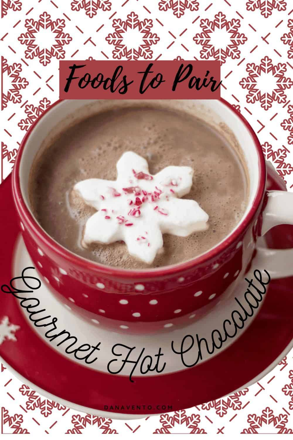 Gourmet Hot Chocolate with a snowflake marshmallow