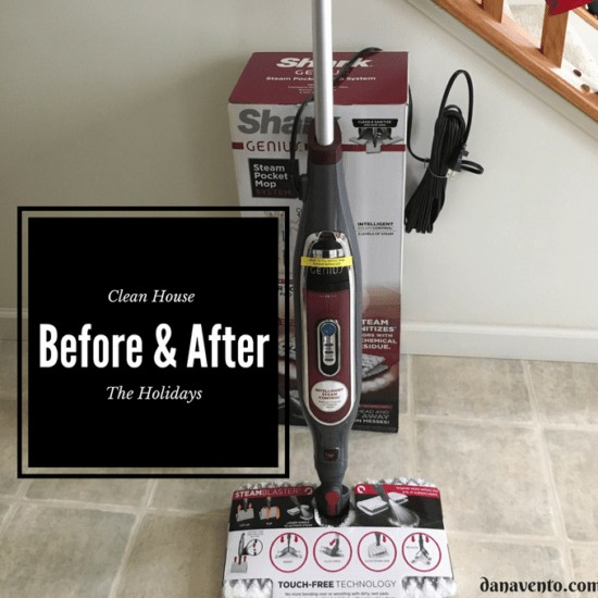 Clean house before and after the holdays, shark, shark genius, mopping, hands free, pads, dual side pads, steam, steam blast, chemical free, dries fast, long reach, Clean before and after the holiday, diy