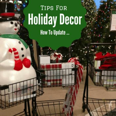 Tips for updating holiday decor, holidays, christmas, christmas decorations, decor, happy christmas, snowman, lighting, indoor, outdoor, how to, tips, tricks, lighting, extensions, bulbs, mini bulbs, outdoor lighting. laser light, star laser light, shopping, bows, inflatables, candy canes, path lighting, exterior, simple changes, tables, dressing tables, lights, banisters, parties, celebrations, holidays, how to, diy, diy blog, dana vento, diy blogger