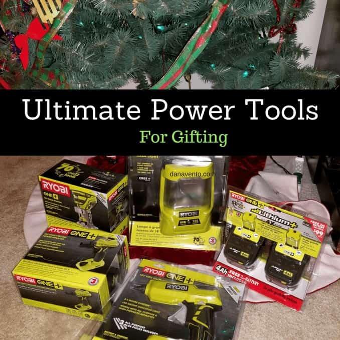 power tools, ultimate power tools for holiday gifts, tools RYOBI Power tools, chargers, batteries, hammers, drills, flashlights, diy, diy writer, Home Depot, Online Deals, December, Holiday Shopping, dana, RYOBI Super Combo Kit (P883), RYOBI Drill/Impact Kit (P1832), RYOBI 18V ONE+, AirStrike Brad Nailer (P320), RYOBI Palm Router (P601), RYOBI Hot Glue, Gun (P305),RYOBI High Volume Inflator (P738),RYOBI Score Wireless Speakers (P765),Area Light (P781),RYOBI Workbench Light (P727)