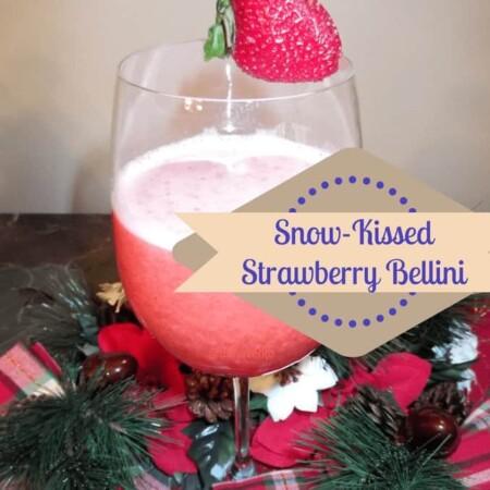 snow kissed strawberry bellini