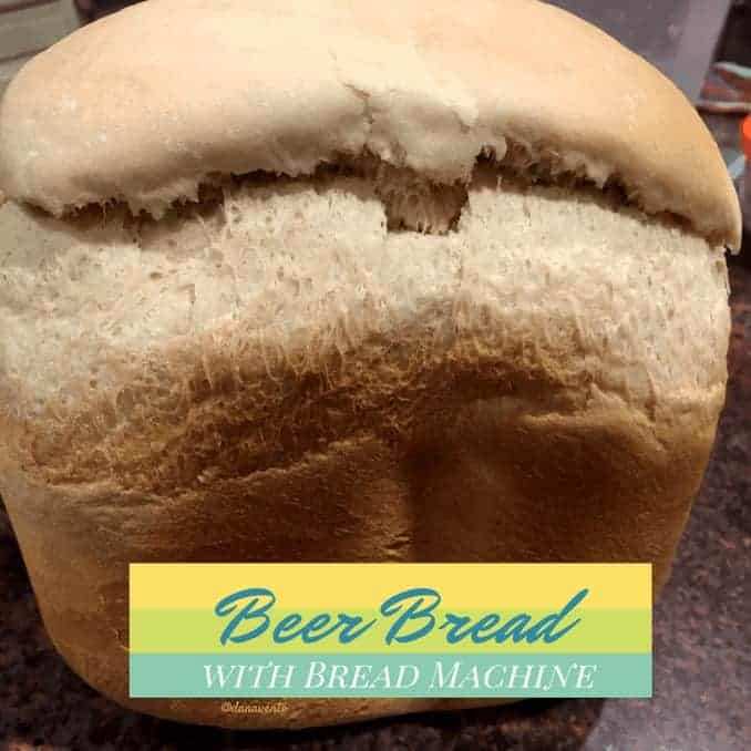 Easy Beer Bread for Bread Machines baked and ready to eat