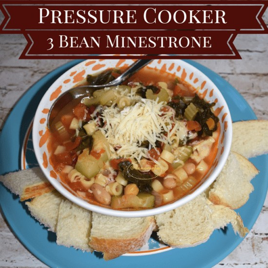 Pressure Cooker 3 bean minestrone soup, soup, celery, onion, meatless, vegetarian, onion, broth, veggie broth, fast cooking, recipe, recipes, easy recipe, food, kitchen prep, pressure cooker, pressure cooker recipe, warm soup, hearty soup, crusty bread, bowl of soup, soup in a bowl, serve warm, soup for parties, soup for football games, soup for potluck dinners, minestrone vegetables, veggies, veggies in minestrone, diy, dana vento, foodie, food writer, food blogger