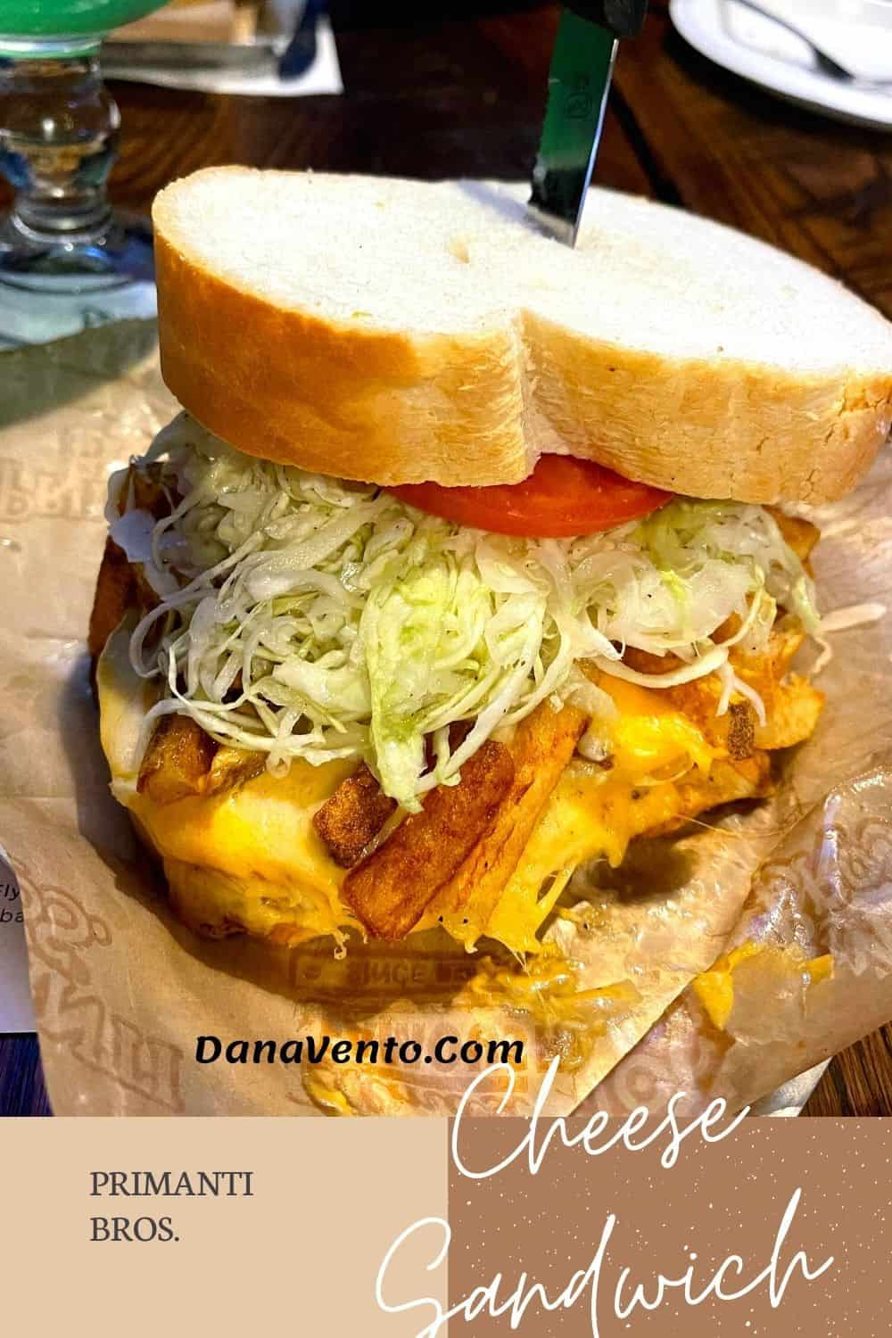 meatless Iconic Pittsburgh Sandwiches Primanti Bros Cheese