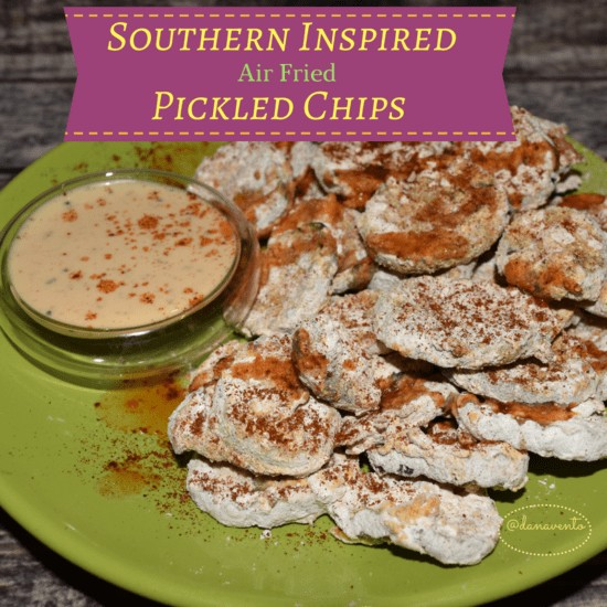 Southern Inspired Air Fried Pickle Chips, pickles, breaded, buttermilk, chipotle, dredged, flour, food, easy, starters, appetizers, Game Day, Big Game, Football, hockey, parties, celebrations, holidays, fast, easy, air fryer, food, recipe, recipes, easy recipe, fast recipe, appetizer recipe, food writer, food blog, southern style, good cooking, fried, no oil, healthier frying, food fanatic dana vento,