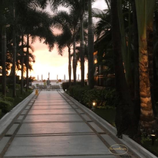 Puerto Vallarta walkway and sunset