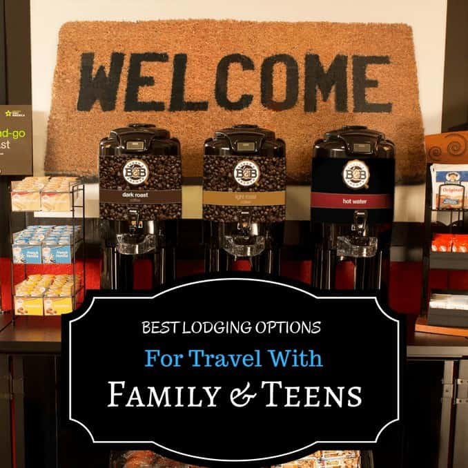 Best Lodging options for travel with family and teens, traveling, traveler, travel bug, travel writer, traveler, travel blog, vacation, extended stays, lodging, hotels, bathroom, pool, WiFi, kitchen, food, relax, sprawl out, space for everyone, ease of travel, fully stocked, eat, drink, sleep, relax, Best Lodging Options for Travel With Family and Teens