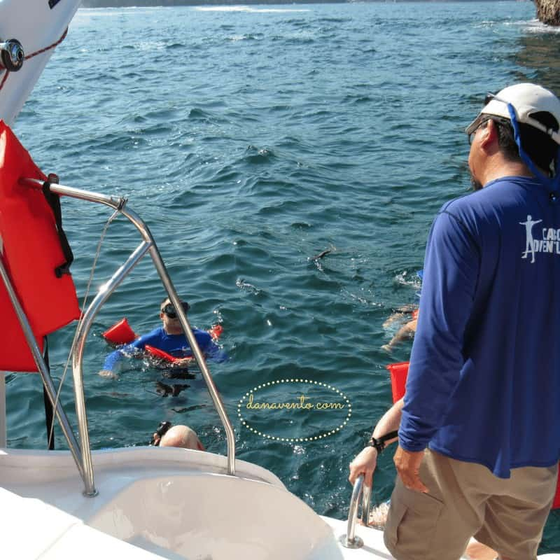 Tired from snorkeling Los Arcos in Puerto Vallarta off the back of the boat