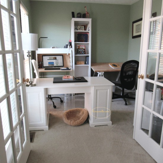TORNLIDEN, Trestles, ALEX, IKEA PS 2014 Secretary, HEMNES Bookcase in natural stained white, IKEA LIATORP Desk, LILLHÖJDEN, flinten swivel, drapes, diy, decor, den renovation, soltions for a diy den renovation, diy project, casa vento, how to, diy time, interior diy, redo a room, tools, supplies, Shop IKEA, IKEA Products, redo a den, den renovation, den update, blinds, drapes, paint, organize, bookcases, redo, chairs, clean, clutter, declutter, shelving, how to, evaluate room, style, style den, den style