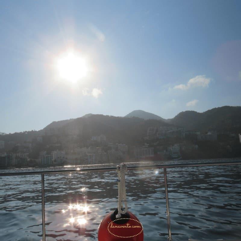 Snorkeling Los Arcos in Puerto Vallarta Looking from the luxury yacht