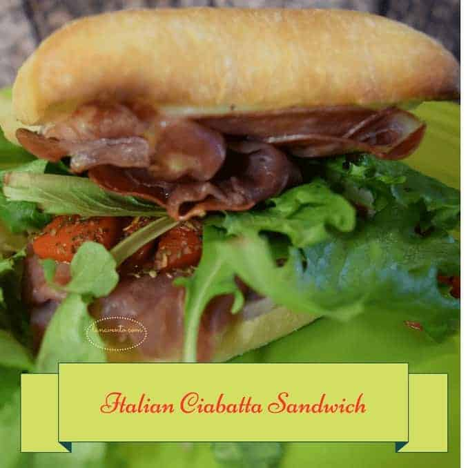 sandwich, sopressata, capicolla, lettuce, ciabatta, dressing, boursin, provolone, toasted, broiled, toaster oven, toaster oven recipe, baked, homemade, artisan like, recipe, food recipe, cooking, easy meal, authentic, italian, italian food, good, easy food, ready to go, roasted red peppers, red onions, goodies,gweech, traditional food, food blog, Italian Ciabatta Sandwich