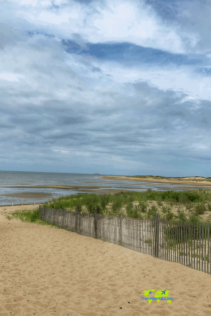 Beach scene in Southern Delaware. Beach bag essentials