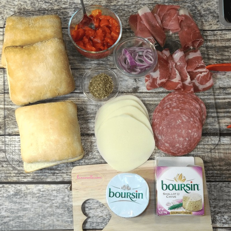 sandwich, sopressata, capicolla, lettuce, ciabatta, dressing, boursin, provolone, toasted, broiled, toaster oven, toaster oven recipe, baked, homemade, artisan like, recipe, food recipe, cooking, easy meal, authentic, italian, italian food, good, easy food, ready to go, roasted red peppers, red onions, goodies,gweech, traditional food, food blog