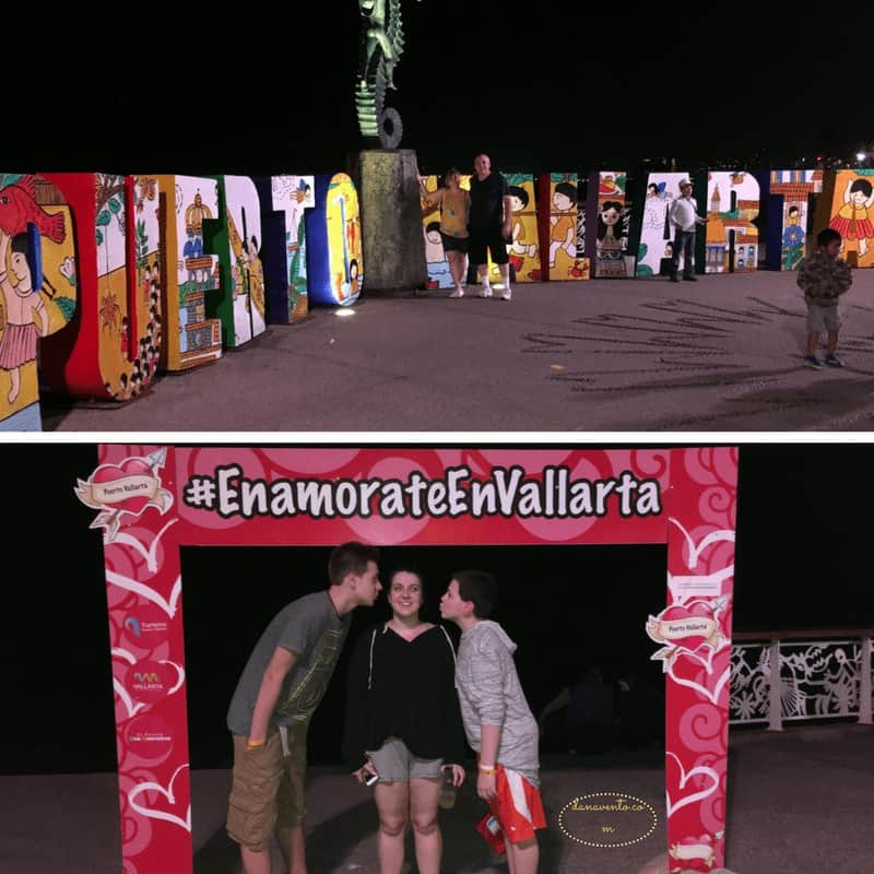 Puerto Vallarta Malecon + Famous Puerto Vallarta Sign