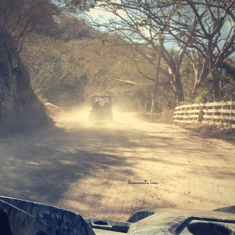 2 lane traffic up the Sierra Madres
