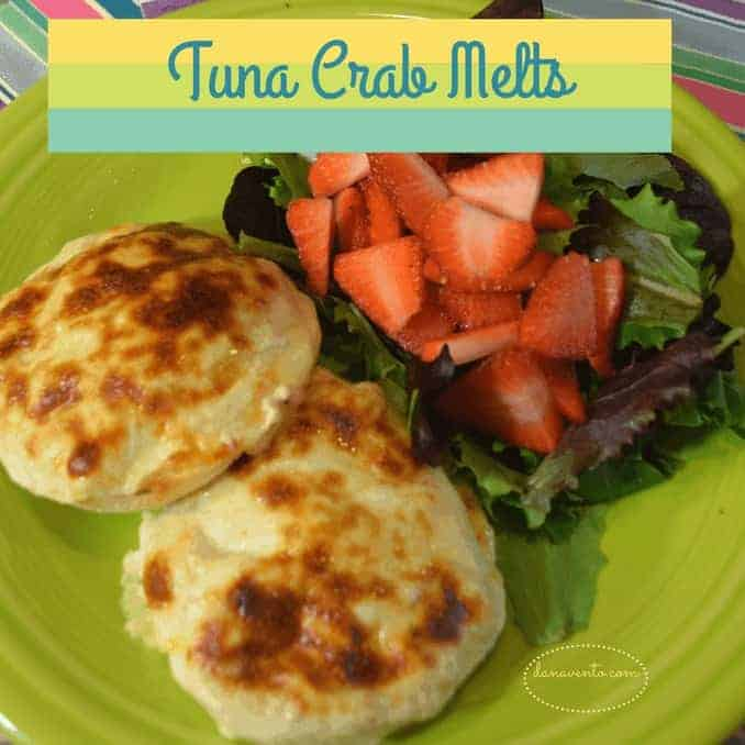 tuna, crab, open faced tuna crab melts, seafood, meatless meal, recipe, seafood recipe, easy recipe, food blog, mayo, healthy fats, celery, english muffins, lemon, pepper, homemade, fast, easy, meal prep, good fats, fish oils, prepare ahead, lenten meals, toaster oven, broil, bake, melt, provolone cheese, melt cheese, easy to create, at home meal, dining at home, lunch box meal, fresh, good eats