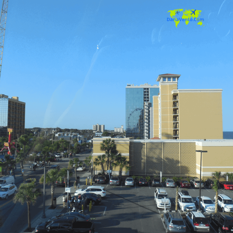 Sky-high views of Myrtle Beach and the surrounding area as you begin to ascend in SkyWheel