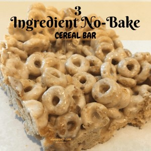 Easy 3 Ingredient No Bake Cereal Bars