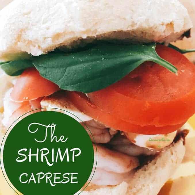 shrimp caprese sandwich