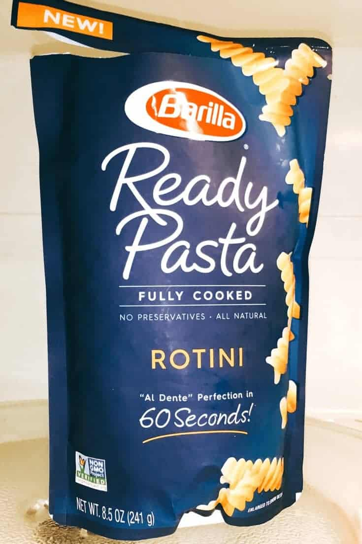 Barilla Ready Pasta ripped open in microwave
