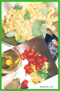 Caprese Pasta Salad Preparation