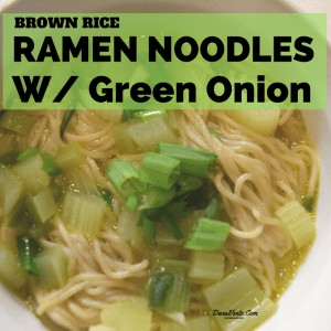 Ramen Brown Rice Noodles With Green Onion
