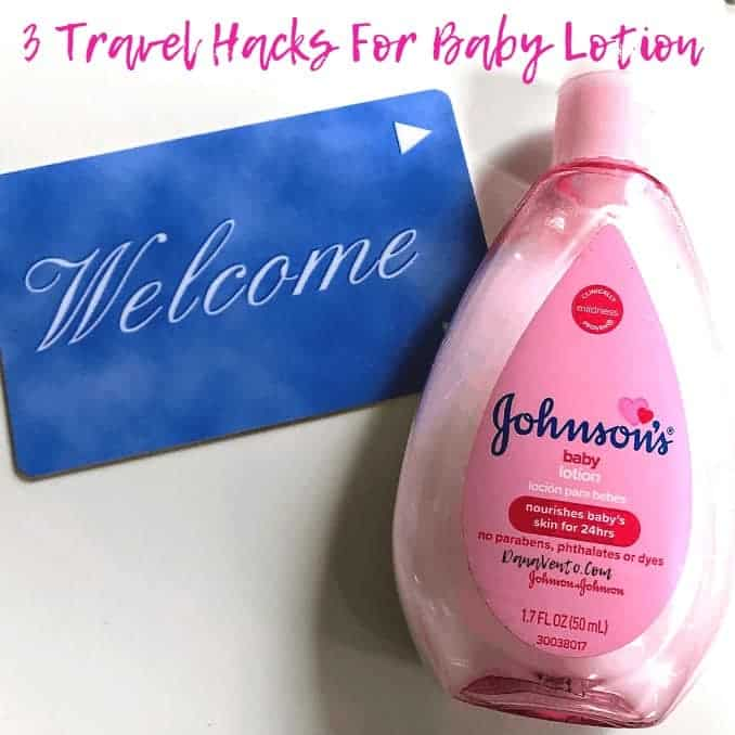 3 Travel Hacks for Baby Lotion