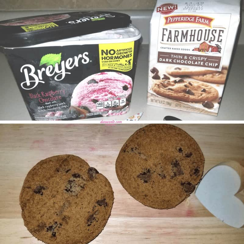 Cookies and ice cream together