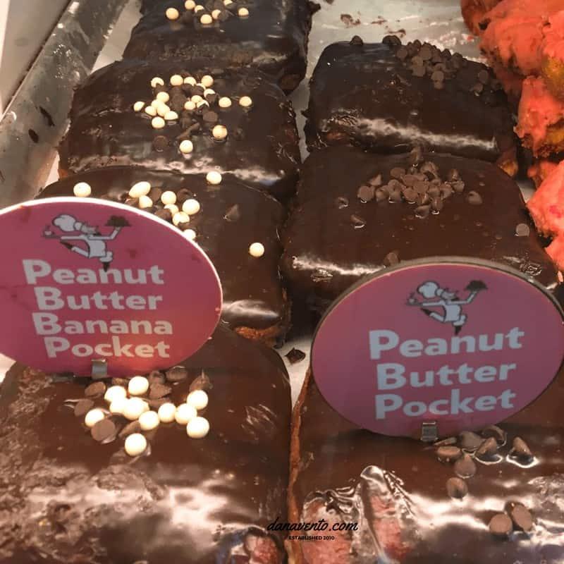 Peanut Butter Banana Pocket Doughnuts