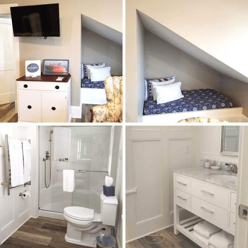 Yes that is a bed in the wall, a great use of space and perfect for just hanging!