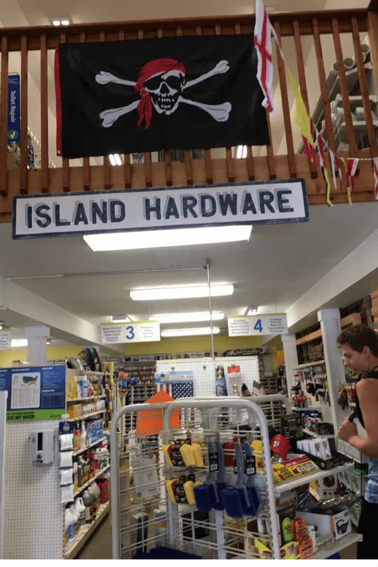 Island Hardware on Put In Bay in the store, find souvenirs
