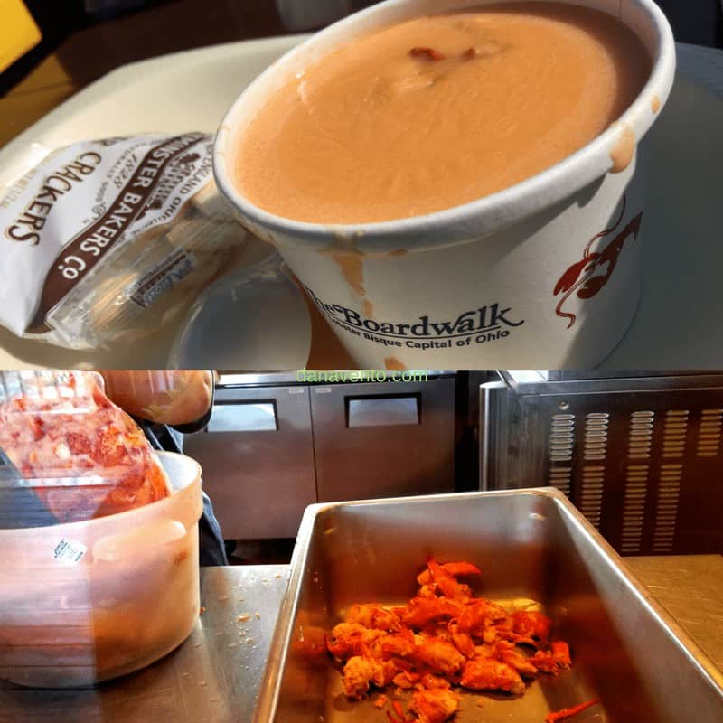 Lobster Bisque Soup on the boardwalk in Put In Bay
