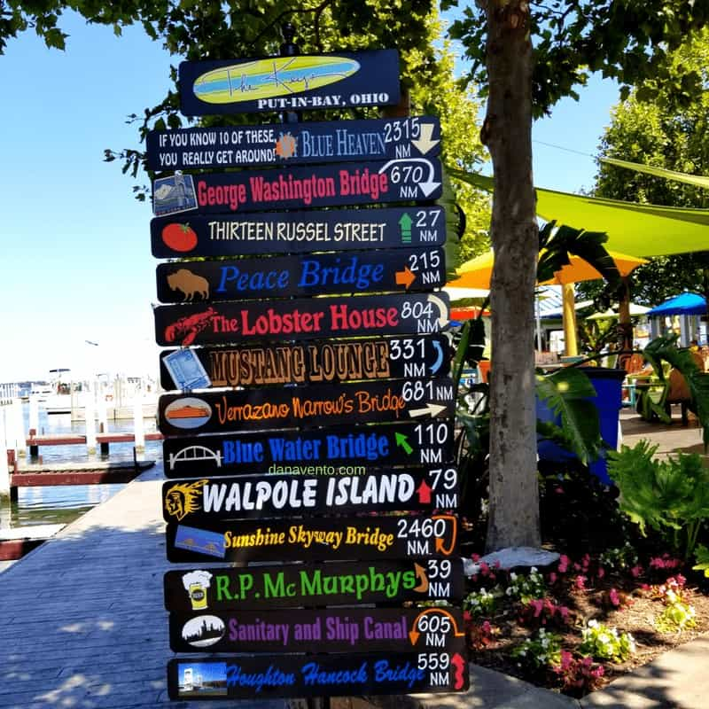 Signs for fun on Put In Bay