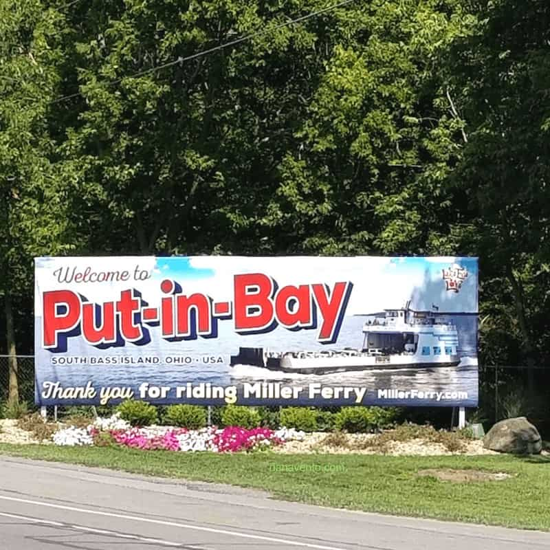 Miller Ferry Sign in Put In Bay