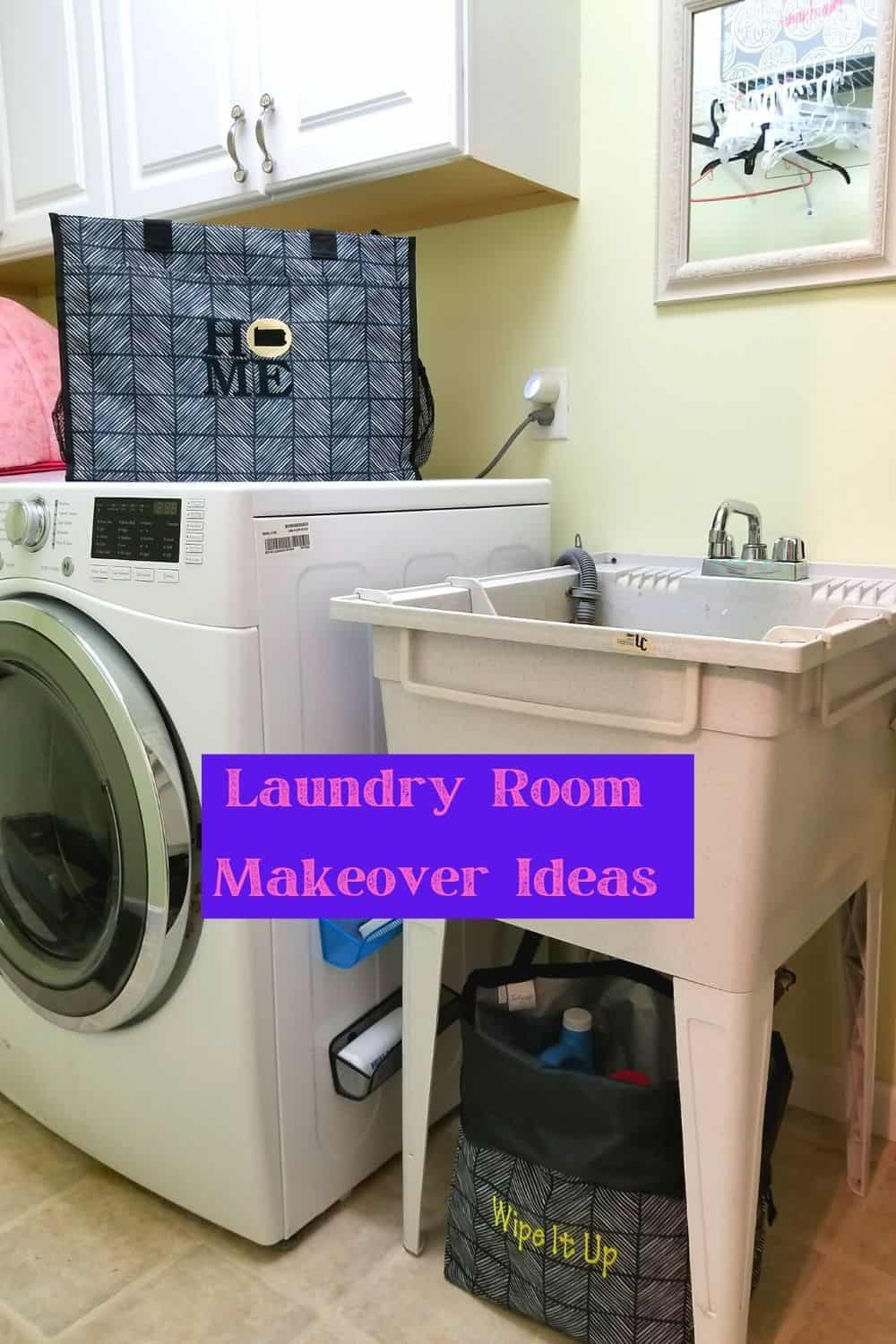 Laundry Room Makeover with laundry tub