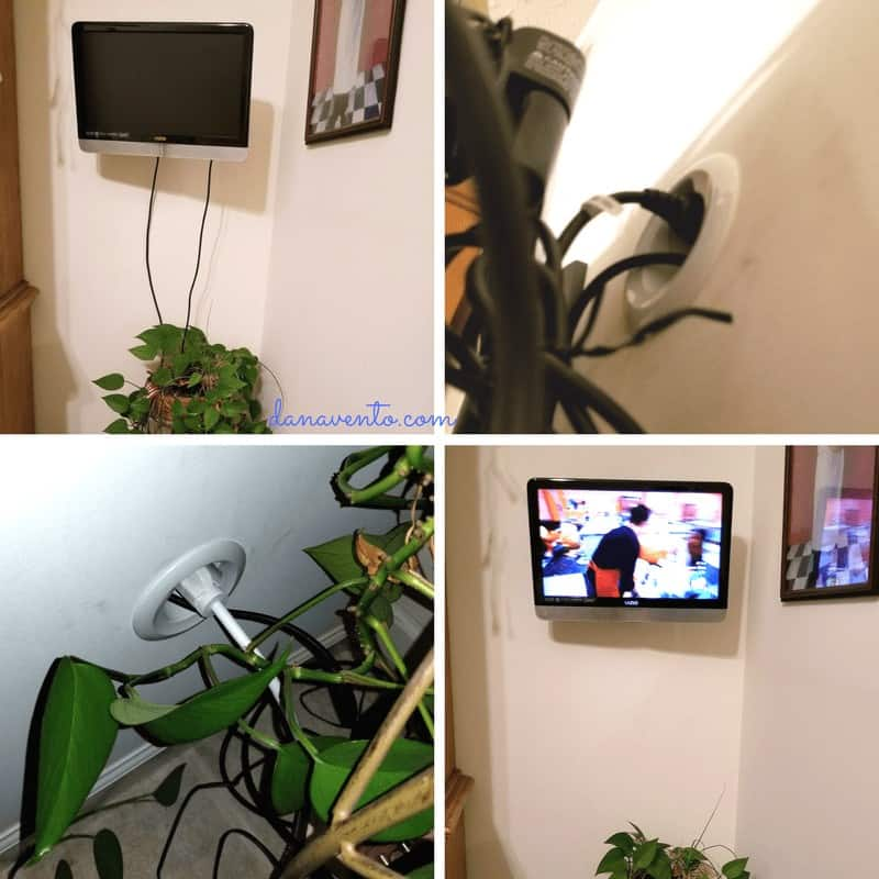 DIY To Hide TV Cables Creating A Cord-Free Wall, diy, how to, easy, cable free, cable free walls, hide wires, use wall to hide wire, wire kit, diy blog, how to do, install wirefree, television, flat screen television, go wirefree,, at home, project, diy project, diy decor, upgrade your look, best buy, best buy products
