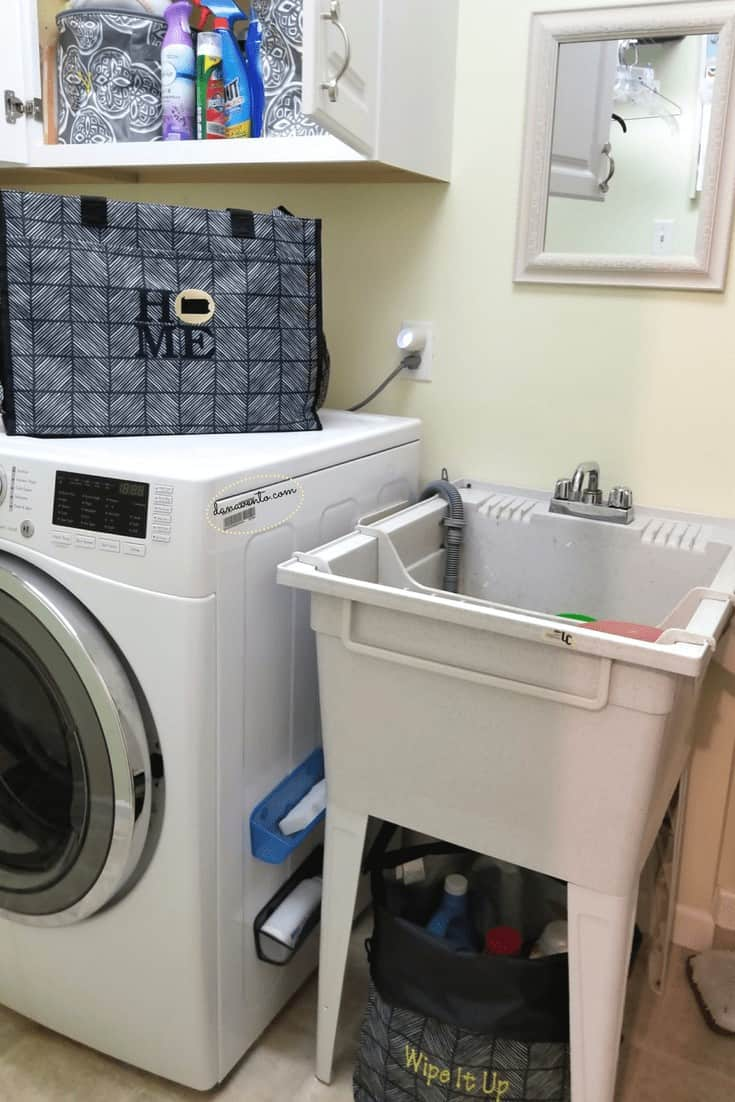 Laundry Room Makeover With Style - Essential Storage Totes