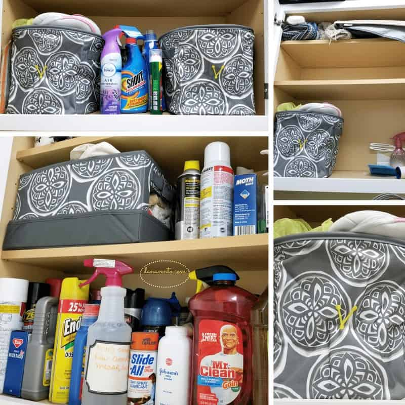 Laundry Room Makeover With Style - Mini Storage rounds for cabinets