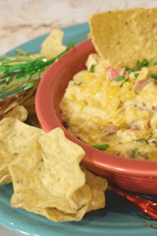 Football foods:  Cheesy Bacon & Corn Dip