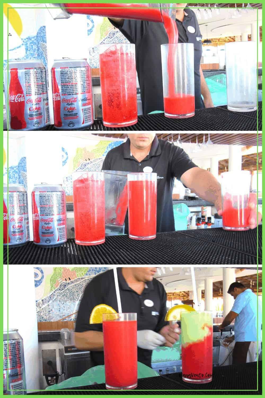 Drinks In puerto vallarta being made