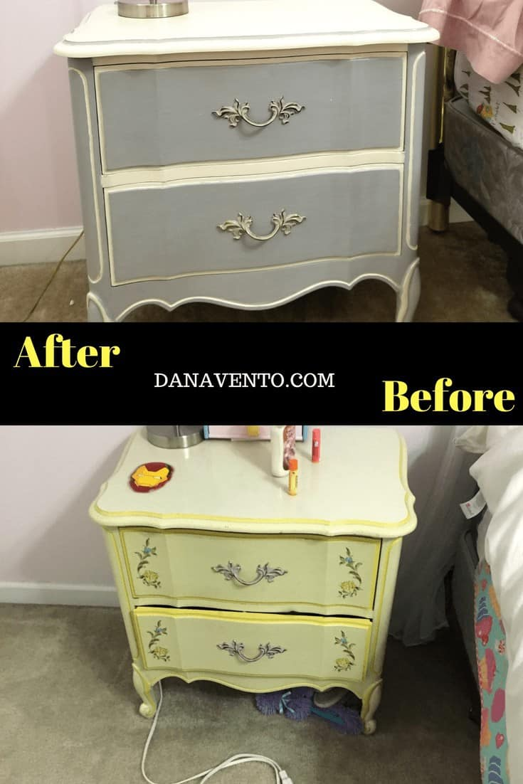 Chalk paint on furniture before and after